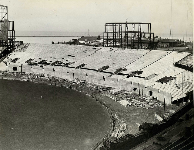 cleveland staium bleachers construction