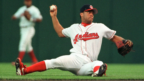 roberto alomar on ground throwing